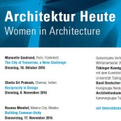 Architecture Today | Women in Architecture | Lectures from 18 October